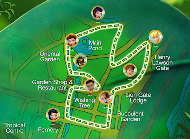 Disney Fairies Trail map