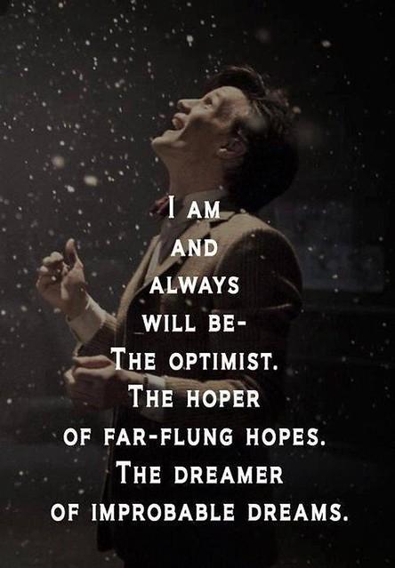 Esperanzado, optimista, soñador