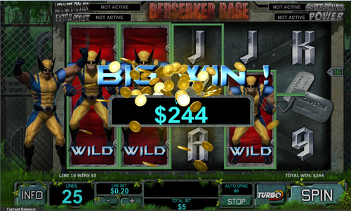 free Wolverine bonus game