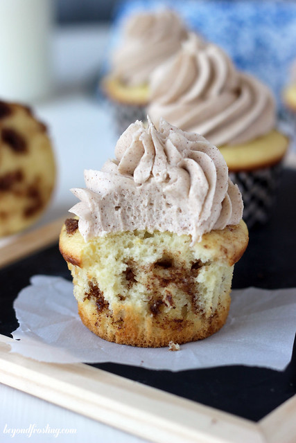 The best ever Cinnamon Roll Cupcakes! Super easy to throw together and delicious as ever.