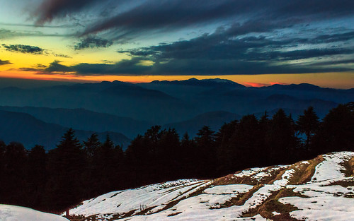 blue trees sunset india snow tourism colors clouds canon landscape hills hour incredible mountians himachal pradesh 600d kalatop