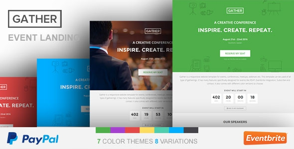 Gather v2.4 - Event & Conference WP Landing Page Theme