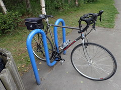 Steel Bike on Anchorage Coastal Trail