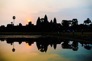 Image of Angkor Wat near Siem Reap. asia2015 cambodia centraltower reflectingpond angkorwat siemreap temple អង្គរវត្ត krongsiemreap kh