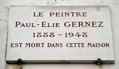 Photo of Paul-Elie Gernez stone plaque