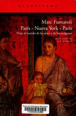 Marc Fumaroli, París - Nueva York - París