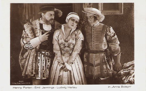 Henny Porten, Emil Jannings and Ludwig Hartau in Anna Boleyn (1920)