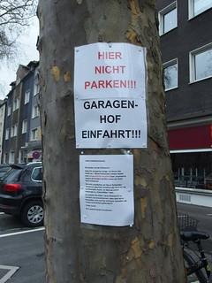 Brief an die Parkplatzsucher