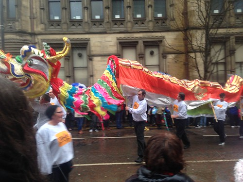 The dragon parade during Chinese New Year here in Manchester.