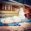 Intoxicated snowm2n #: Early spring break. #ondragontime #southernillinois #smalltown #rural #nashvilleil #washingtoncountyil #winter #ice #icy #cold #chill #snow #snowman #springbreak #drunk