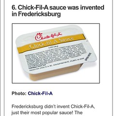 Bet you didn't know Chic-fil-a Sauce was invented in Fredericksburg? Lol. I know the person who invented it!! #business #builditandtheywillcome #illest #invent #style #sauce #foodnetwork #lovewhatyoudo #igdaily #instawinner #hustleharder #artistic #classi