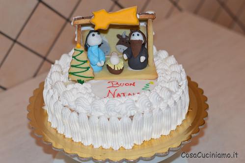 Torte - 58 - Torta Natale capanna in pasta frolla e ghiaccia