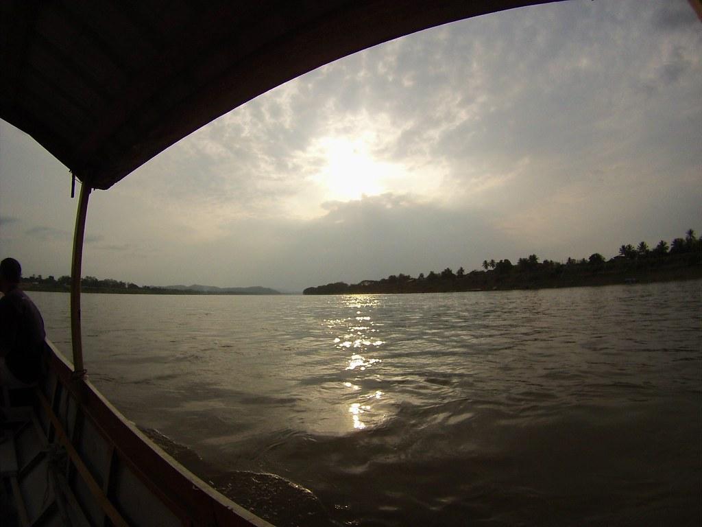 Longboat on Mekong River, Chiang Khan.