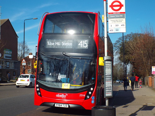 Brand new - Abellio London 2514, YY64TZO at Upper Tulse Hill on route 415