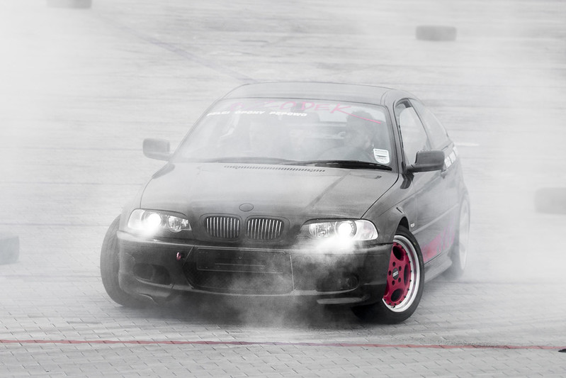 BMW burning tires - Drift Day Kalisz