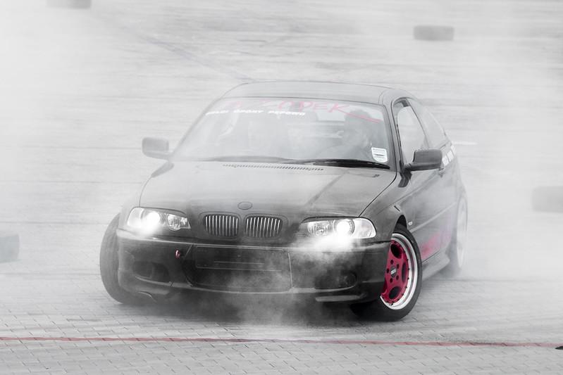 BMW burning tires - Drift Day Kalisz