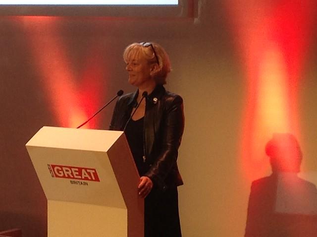 Jo Malone speaking at GREAT Festival of Creativity