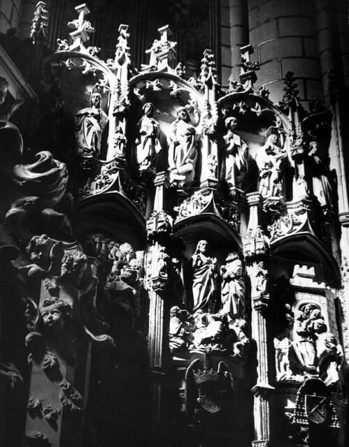 Catedral de Toledo en 1952. Fotografía de Erika Groth-Schmachtenberger © Universitätsbibliothek Augsburg