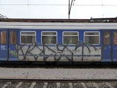Zagreb train graffiti