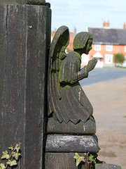angel gatepost by Munro Cautley