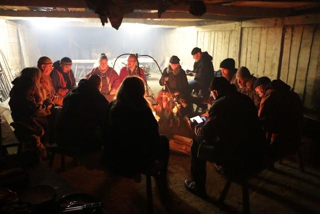 Treffen der Ehrenamtler in dem Versammlungshaus von Haithabu - Museumsfreifläche Wikinger Museum Haithabu WMH 02-03-2015