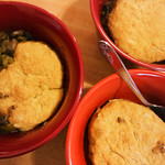 Southern Biscuits on Portobello Pot Pie