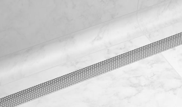 The Marc Newson designed grate comes in a choice of stainless steel or white coated finishes