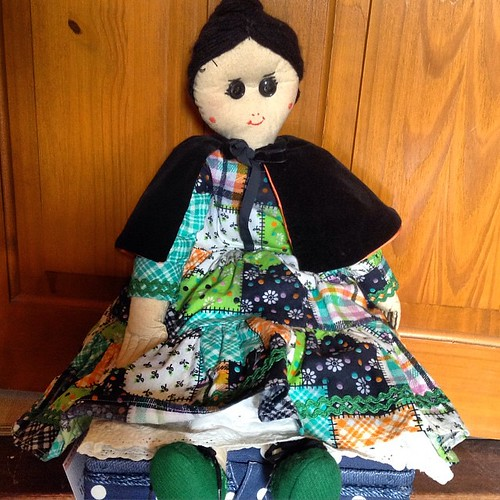 Rag doll that my Maternal Grandmother made me about 40 years ago. I love her cheater print dress #lechallenge - Tradition
