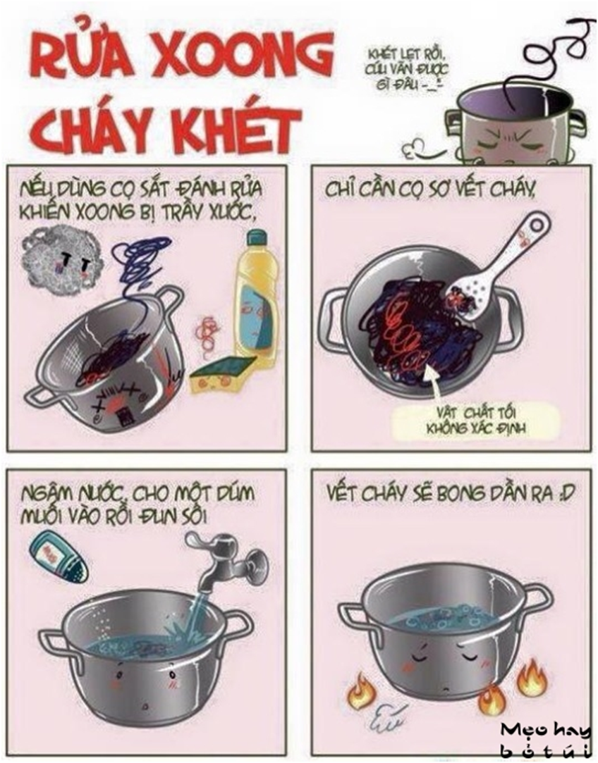 Những mẹo hay cần thiết khi vào bếp
