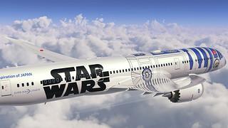 ANA航空《星際大戰》R2-D2塗裝飛機