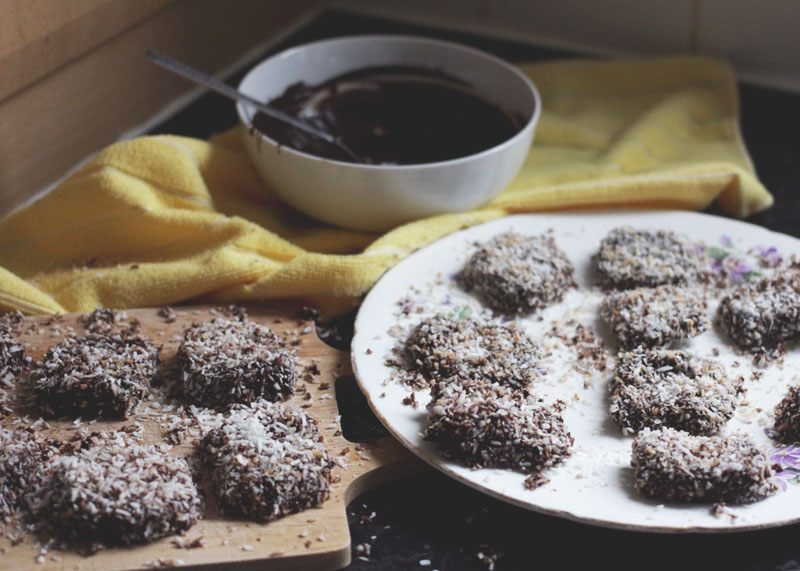 Chocolate and coconut bars, Bumpkin Betty