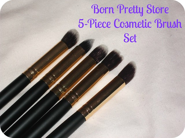 Born Pretty Store 5-Piece Cosmetic Brush Set