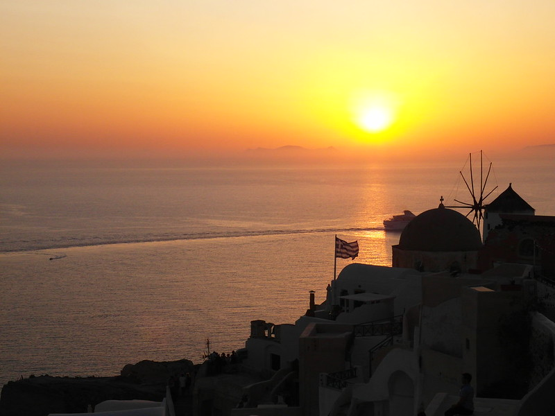 Sunset at Oia, Santorini