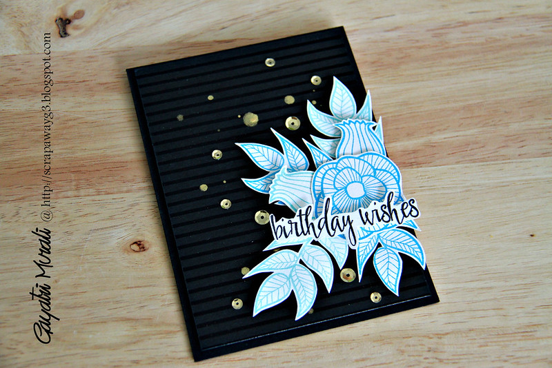 Birthday wishes card flat