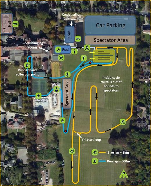 WaldenJNR Triathlon 2016 Course Map