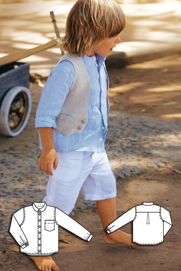 boys button up shirt sewing pattern 144 052010