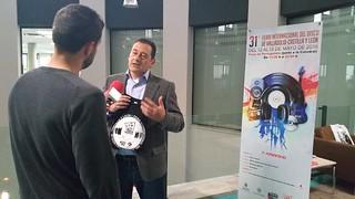 31ª Feria Internacional del Disco de Valladolid-Castilla y León. Rueda de Prensa en la 8 de RTVCYL