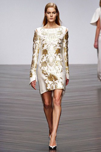 Jacquard Luxury Fashion Trend for Fall Winter 2013.   Osman  Fall Winter 2013.  #BestPiece #LFW #fashion #trends