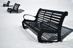 outdoor furniture, furniture, snow,