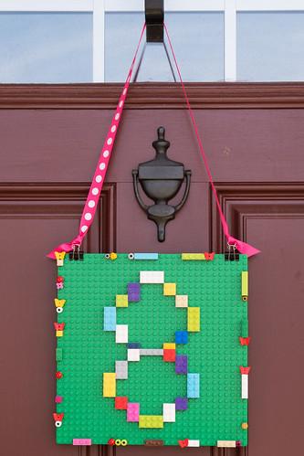 Lego door hanger