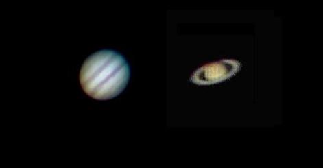 Jupiter and Saturn Mar 23th 2015