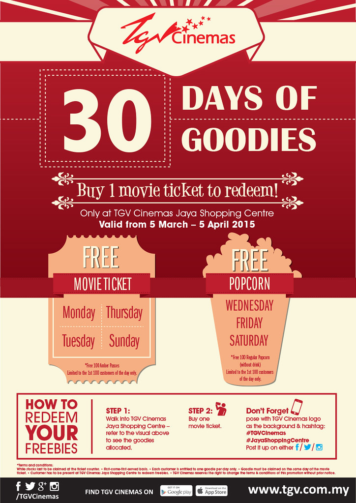 30 Days Of Goodies Exclusively At Tgv Cinemas Jaya Shopping Centre