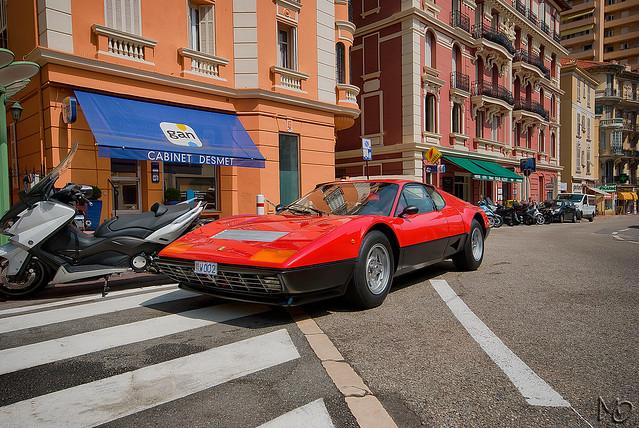 Ferrari 512 bb boulevard du jardin exotique monaco for Boulevard du jardin exotique
