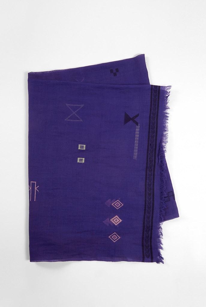 Tiri Blue Cotton Scarf