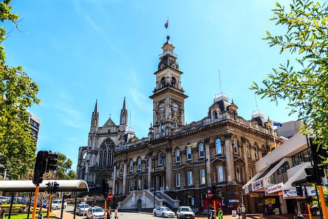 Historic building, The Octagon, Dunedin, New Zealand