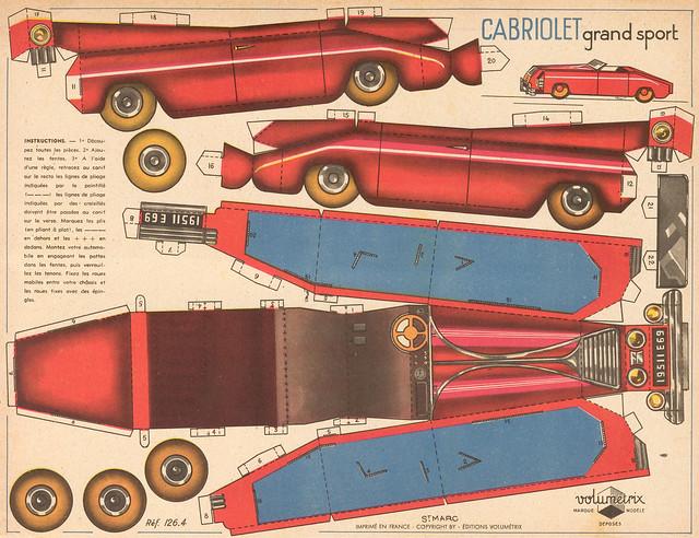 cabriolet rouge