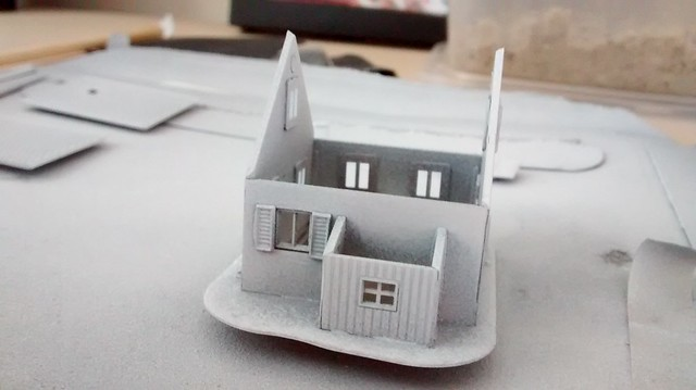 Z-scale house kit started