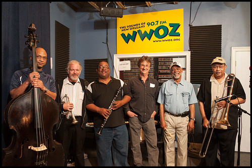 Louis Ford's band at WWOZ Spring Pledge Drive. Photo by Ryan Hodgson-Rigsbee