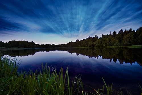 lake reflection night europe lithuania xris74 pixpassion