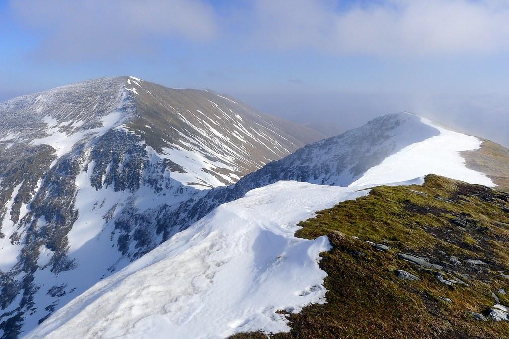 The ridge from Sgurr Choinnich to Sgurr a'Chaorachain